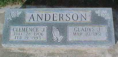 ANDERSON, GLADYS J. - Dixon County, Nebraska | GLADYS J. ANDERSON - Nebraska Gravestone Photos