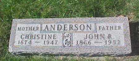ANDERSON, CHRISTINE - Dixon County, Nebraska | CHRISTINE ANDERSON - Nebraska Gravestone Photos