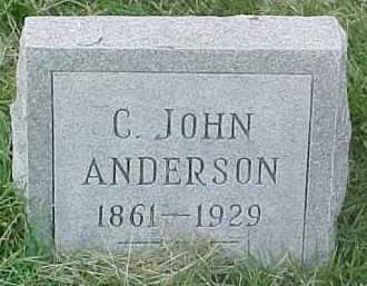 ANDERSON, C. JOHN - Dixon County, Nebraska | C. JOHN ANDERSON - Nebraska Gravestone Photos