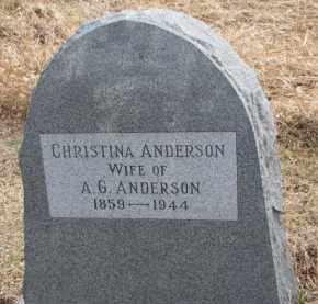 ANDERSON, CHRISTINA - Dixon County, Nebraska | CHRISTINA ANDERSON - Nebraska Gravestone Photos