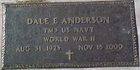 ANDERSON, DALE E. (WWII MARKER) - Dixon County, Nebraska | DALE E. (WWII MARKER) ANDERSON - Nebraska Gravestone Photos