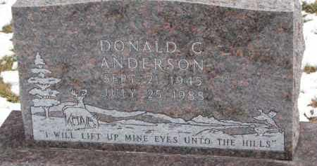ANDERSON, DONALD C. - Dixon County, Nebraska   DONALD C. ANDERSON - Nebraska Gravestone Photos