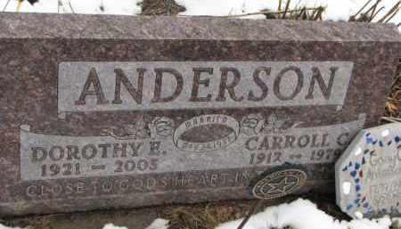 ANDERSON, CARROLL C. - Dixon County, Nebraska | CARROLL C. ANDERSON - Nebraska Gravestone Photos