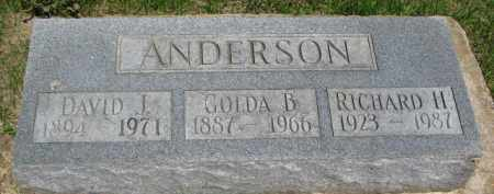 ANDERSON, DAVID I. - Dixon County, Nebraska | DAVID I. ANDERSON - Nebraska Gravestone Photos