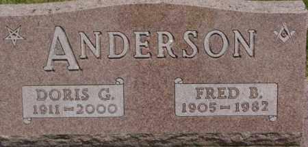 ANDERSON, DORIS G. - Dixon County, Nebraska | DORIS G. ANDERSON - Nebraska Gravestone Photos