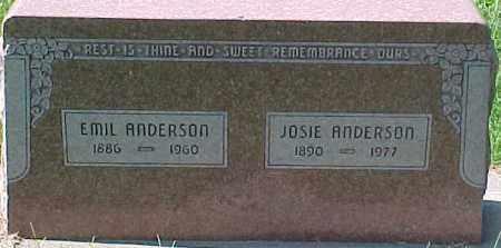 ANDERSON, JOSIE - Dixon County, Nebraska | JOSIE ANDERSON - Nebraska Gravestone Photos