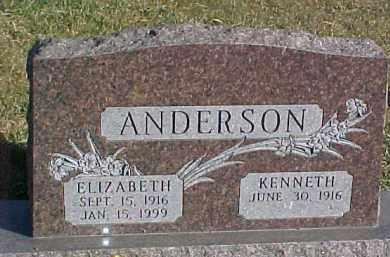 ANDERSON, KENNETH - Dixon County, Nebraska | KENNETH ANDERSON - Nebraska Gravestone Photos
