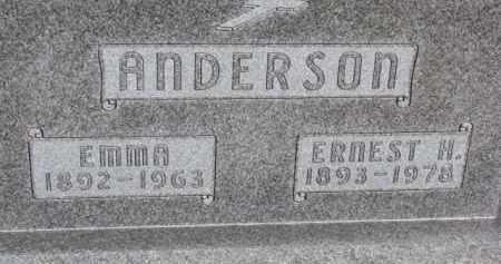 ANDERSON, ERNEST H. - Dixon County, Nebraska | ERNEST H. ANDERSON - Nebraska Gravestone Photos