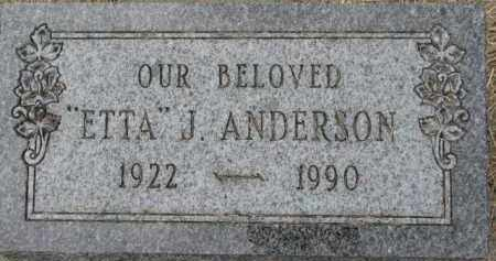 ANDERSON, ETTA J. - Dixon County, Nebraska | ETTA J. ANDERSON - Nebraska Gravestone Photos