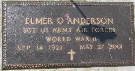 ANDERSON, ELMER O. (WWII MARKER) - Dixon County, Nebraska | ELMER O. (WWII MARKER) ANDERSON - Nebraska Gravestone Photos