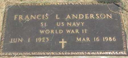 ANDERSON, FRANCIS L. (WW II MARKER) - Dixon County, Nebraska | FRANCIS L. (WW II MARKER) ANDERSON - Nebraska Gravestone Photos