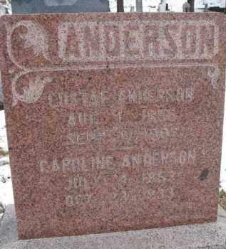 ANDERSON, CAROLINE - Dixon County, Nebraska | CAROLINE ANDERSON - Nebraska Gravestone Photos