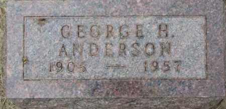 ANDERSON, GEORGE H. - Dixon County, Nebraska | GEORGE H. ANDERSON - Nebraska Gravestone Photos