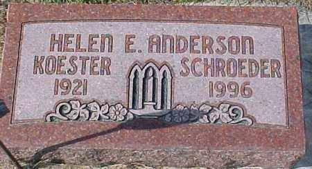 ANDERSON, HELEN E. - Dixon County, Nebraska | HELEN E. ANDERSON - Nebraska Gravestone Photos