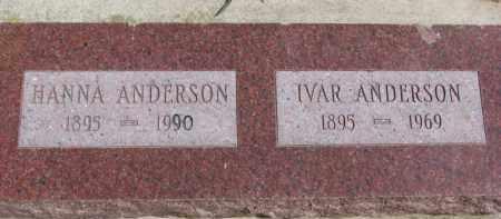 ANDERSON, HANNA - Dixon County, Nebraska | HANNA ANDERSON - Nebraska Gravestone Photos