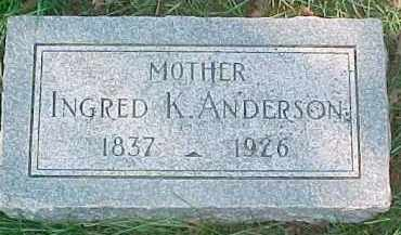ANDERSON, INGRED K. - Dixon County, Nebraska | INGRED K. ANDERSON - Nebraska Gravestone Photos