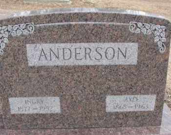 ANDERSON, INGRY - Dixon County, Nebraska   INGRY ANDERSON - Nebraska Gravestone Photos