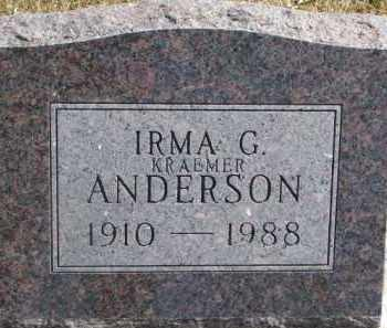 ANDERSON, IRMA G. - Dixon County, Nebraska | IRMA G. ANDERSON - Nebraska Gravestone Photos