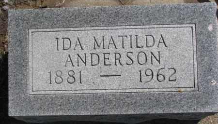 ANDERSON, IDA MATILDA - Dixon County, Nebraska | IDA MATILDA ANDERSON - Nebraska Gravestone Photos