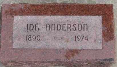 ANDERSON, IDA - Dixon County, Nebraska   IDA ANDERSON - Nebraska Gravestone Photos