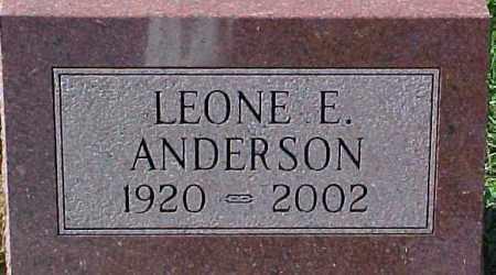 ANDERSON, LEONE E. - Dixon County, Nebraska | LEONE E. ANDERSON - Nebraska Gravestone Photos
