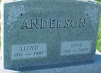 ANDERSON, IONE - Dixon County, Nebraska | IONE ANDERSON - Nebraska Gravestone Photos