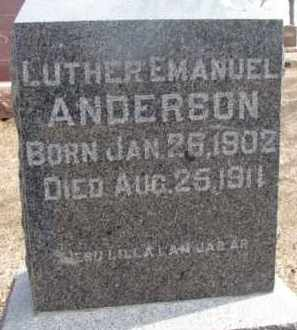 ANDERSON, LUTHER EMANUEL - Dixon County, Nebraska | LUTHER EMANUEL ANDERSON - Nebraska Gravestone Photos