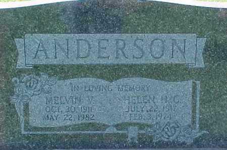 ANDERSON, MELVIN V. - Dixon County, Nebraska | MELVIN V. ANDERSON - Nebraska Gravestone Photos