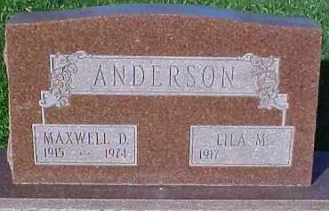 ANDERSON, LILA M. - Dixon County, Nebraska | LILA M. ANDERSON - Nebraska Gravestone Photos