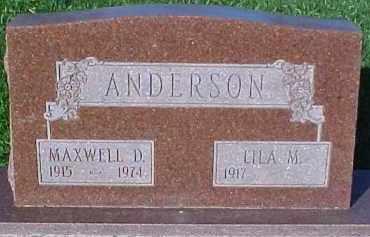 ANDERSON, MAXWELL D. - Dixon County, Nebraska | MAXWELL D. ANDERSON - Nebraska Gravestone Photos