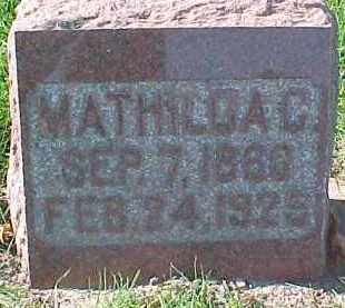 ANDERSON, MATHILDA C. - Dixon County, Nebraska | MATHILDA C. ANDERSON - Nebraska Gravestone Photos