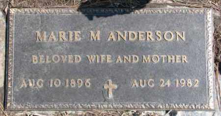 ANDERSON, MARIE M. - Dixon County, Nebraska | MARIE M. ANDERSON - Nebraska Gravestone Photos