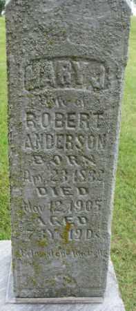 ANDERSON, MARY J. - Dixon County, Nebraska | MARY J. ANDERSON - Nebraska Gravestone Photos