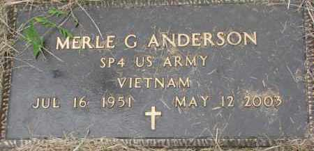 ANDERSON, MERLE G. (MILITARY MARKER) - Dixon County, Nebraska | MERLE G. (MILITARY MARKER) ANDERSON - Nebraska Gravestone Photos