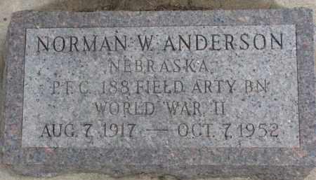 ANDERSON, NORMAN W. - Dixon County, Nebraska   NORMAN W. ANDERSON - Nebraska Gravestone Photos