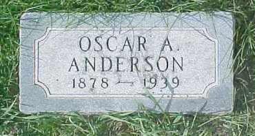 ANDERSON, OSCAR A - Dixon County, Nebraska | OSCAR A ANDERSON - Nebraska Gravestone Photos