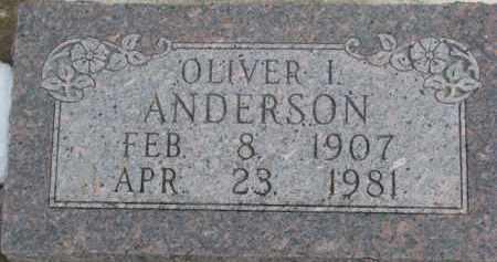 ANDERSON, OLIVER I. - Dixon County, Nebraska | OLIVER I. ANDERSON - Nebraska Gravestone Photos