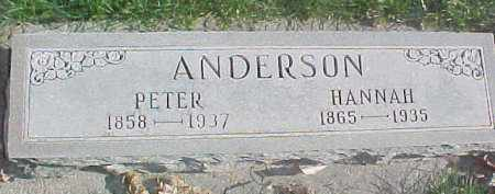 ANDERSON, HANNAH - Dixon County, Nebraska | HANNAH ANDERSON - Nebraska Gravestone Photos