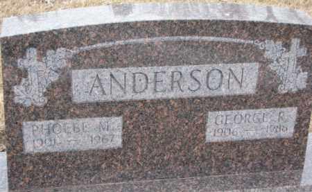 ANDERSON, PHOEBE M. - Dixon County, Nebraska | PHOEBE M. ANDERSON - Nebraska Gravestone Photos