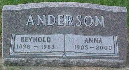 ANDERSON, ANNA - Dixon County, Nebraska | ANNA ANDERSON - Nebraska Gravestone Photos