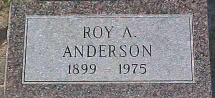 ANDERSON, ROY A. - Dixon County, Nebraska | ROY A. ANDERSON - Nebraska Gravestone Photos