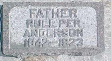 ANDERSON, RULL PER - Dixon County, Nebraska | RULL PER ANDERSON - Nebraska Gravestone Photos