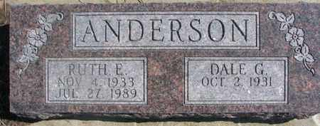 ANDERSON, DALE G. - Dixon County, Nebraska | DALE G. ANDERSON - Nebraska Gravestone Photos