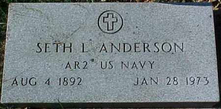 ANDERSON, SETH L. (MILITARY MARKER) - Dixon County, Nebraska | SETH L. (MILITARY MARKER) ANDERSON - Nebraska Gravestone Photos