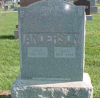 ANDERSON, ELLA - Dixon County, Nebraska | ELLA ANDERSON - Nebraska Gravestone Photos