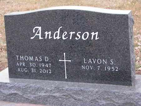 ANDERSON, THOMAS D. - Dixon County, Nebraska | THOMAS D. ANDERSON - Nebraska Gravestone Photos
