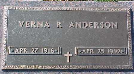 ANDERSON, VERNA R. - Dixon County, Nebraska | VERNA R. ANDERSON - Nebraska Gravestone Photos
