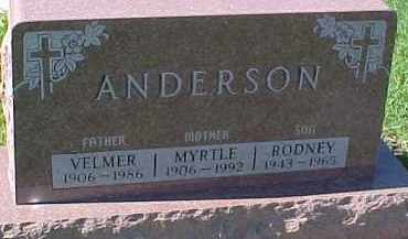 ANDERSON, VELMER - Dixon County, Nebraska | VELMER ANDERSON - Nebraska Gravestone Photos