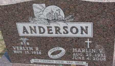 ANDERSON, HARLIN V. - Dixon County, Nebraska | HARLIN V. ANDERSON - Nebraska Gravestone Photos