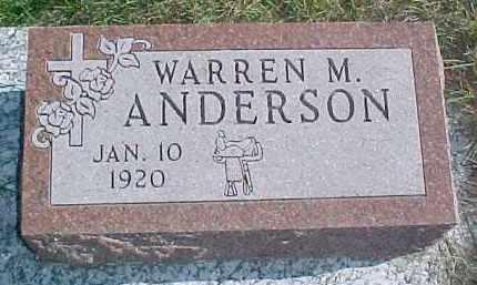 ANDERSON, WARREN M. - Dixon County, Nebraska | WARREN M. ANDERSON - Nebraska Gravestone Photos